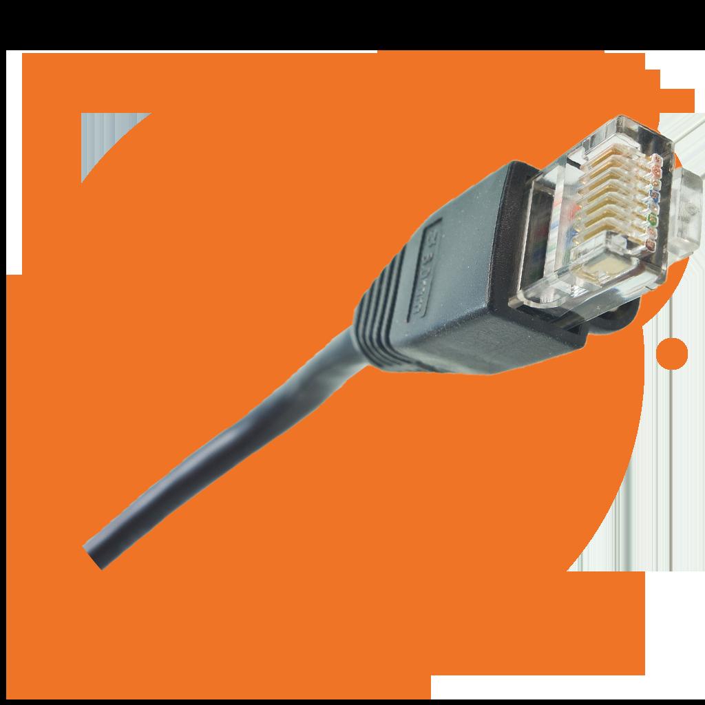 UTP netwerkkabel in oranje bollen voor uw netwerkbeheer